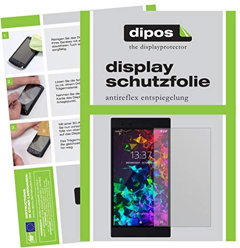 dipos I 2X Schutzfolie matt passend für Razer Phone 2 Folie Bildschirmschutzfolie