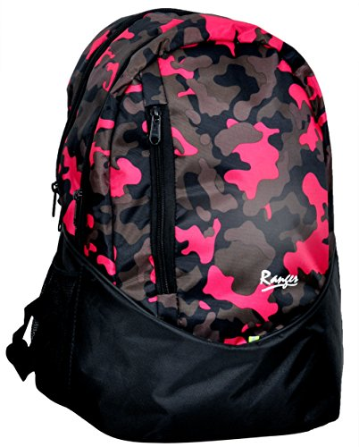 Ranger New School bag | College Bag | Laptop bag or Backpack (Pink Military) with extra compartment (Pink Military)