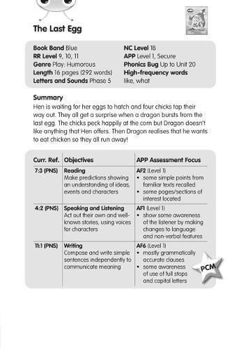 BC JD Plays Blue (KS1)/1B The Last Egg Guided Reading Card (BUG CLUB)