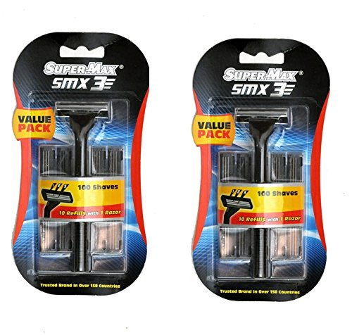 SuperMax SMX3 Razor Set ( 2 Razors, 20 catridges)
