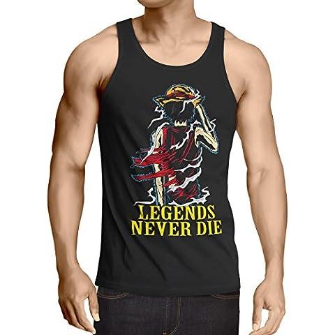Legends Never Die - Luffy camiseta de tirantes para hombre tank top
