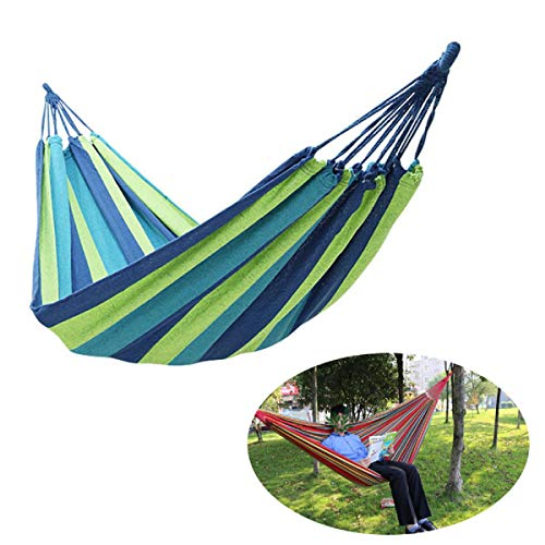 Hängematte Outdoor, Hammock Hängematten Mehrpersonen 210 x 150 cm Belastbarkeit bis 300 kg, Tragbare mit Tragetasche für Outdoor Camping Wandern Garten