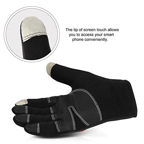 Vbiger TouchscreenHandschuhe Sport Handschuhe Fahrradhandschuhe Handy Handschuhe Motorrad Handschuhe mit Fleecefutter für Winter - 6