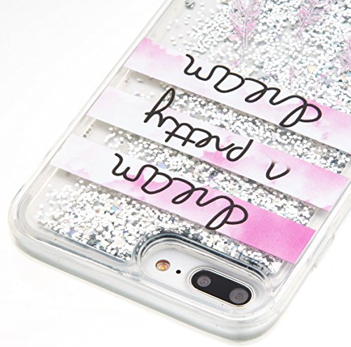 For iPhone 7 PLUS 5.5[CUTE SPARKLING]Novelty Creative Liquid Glitter Design Liquid Quicksand Bling Adorable Flowing Floating Moving Shine Glitter Case -PURPLE EIFFEL PRETTY DREAM