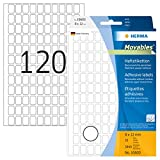 HERMA 10600 Vielzweck-Etiketten ablösbar (8 x 12 mm, 32 Blatt, Papier, matt) selbstklebend, Haushaltsetiketten zur Handbeschriftung, 3.840 Haftetiketten, weiß