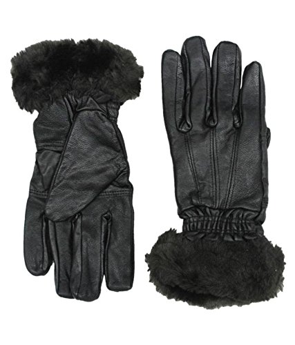 V4M GENUINE LADIES WINTER DRIVING RIDER GLOVES 1 PAIR(COLOR OF FUR MAY CHANGE)