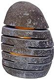 Guru-Shop Flußstein Lampe 1, 30cm, Ausführung: Elektrik f. Innenbereich, 30x25x17 cm, Outdoorlights Gartenleuchten