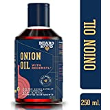 Beardhood Onion Oil with Redensyl for Hair Growth and Anti Hairfall - 20% Red Onion Extract, For Men & Women, Mineral Oil & Paraben Free, 250ml