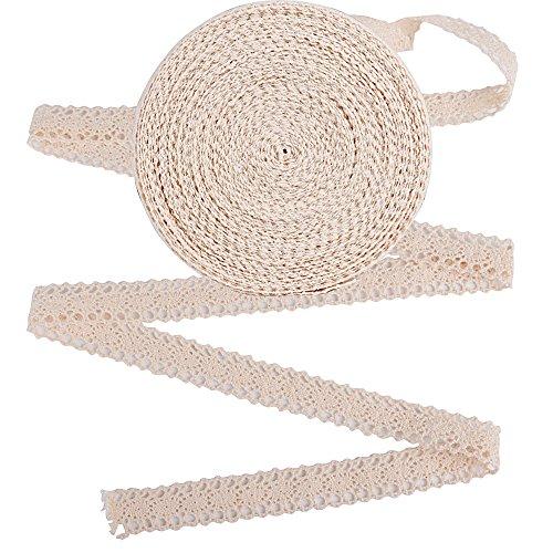 (20m*2cm) merletto pizzo cotone avorio nastro decorativo decorazioni per matrimonio fai da te imballaggio pacchi regalo biglietti di auguri (avorio)