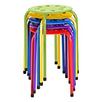Colorful Plastic Stacking Stools