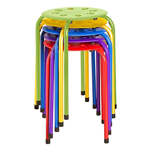 Pleasant Norwood Commercial Furniture Nor 1101Ac So Plastic Stack Stools 17 75 Height 11 75 Width 11 75 Length Assorted Colours Pack Of 5 Onthecornerstone Fun Painted Chair Ideas Images Onthecornerstoneorg