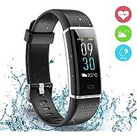 Fitness Tracker, Ausun 130 Plus Farbe Touchscreen Schrittzähler Uhr, TFT LCD Einstellbare Helligkeit Aktivitäts-Tracker mit Pulsmesser, IP68 Wasserdicht GPS Smart Armband mit 14 Trainingsmodi für iOS & Android