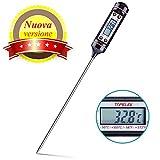 TOPELEK-Termometro Cucina, 5S Lettura Istantanea, 5.9 inch Sonda Lunga, Schermo LCD,...