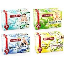 Teekanne Detox - Newstart Set - 4 verschiedene Kräutertees zur Stärkung des Immunsystems (4 x 20 Teebeutel)