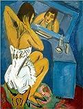 Posterlounge Alu Dibond 30 x 40 cm: Toilette, Frau vor Dem Spiegel von Ernst Ludwig Kirchner/akg-Images