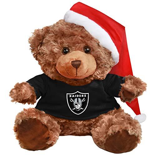 FOCO Oakland Raiders Bear mit Weihnachtsmannmütze