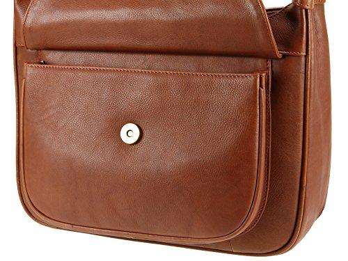 Visconti Leather , Sac pour femme à porter à l'épaule marron