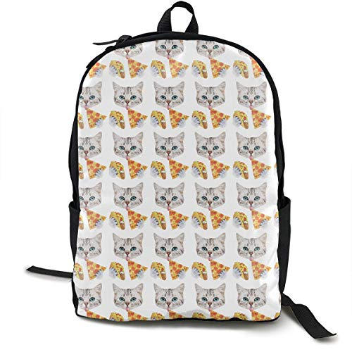 sghshsgh Rucksack für Hochschule,Casual Backpck Big Capacity Anti-Theft Multipurpose Carry-On Bag Backpack for Gym Picnic Walking Cycling Funny Cat Taco Pizza Cartoon Pattern, Traveling & Camping Bac -