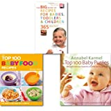 Baby Easy and Healthy Dishes Recipe Cookbook Collection 3 Books Set (Easy and Healthy Dishes) (Top 100 Baby Purees: 100 quick and easy meals for a healthy and happy baby, The Top 100 Baby Food Recipes & Big Book of Recipes for Babies Toddlers..