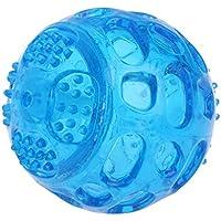 lilingg Pet Impermeable TPR Vocal Ball Training Dientes Limpieza Masticar Juguetes Interactivos Azul 1 Unid