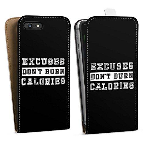Apple iPhone X Silikon Hülle Case Schutzhülle Sprüche Workout Motivation Downflip Tasche weiß