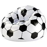 Monsterzeug Aufblasbarer Fußball Clubsessel, XXL Fussballsessel, Lounge Relax Luftsessel Fussball aufblasbar, Drinnen, draußen