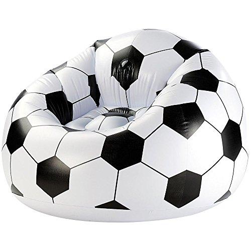 Monsterzeug Aufblasbarer Fußball Clubsessel, XXL Fussballsessel, Lounge Relax Luftsessel Fussball...