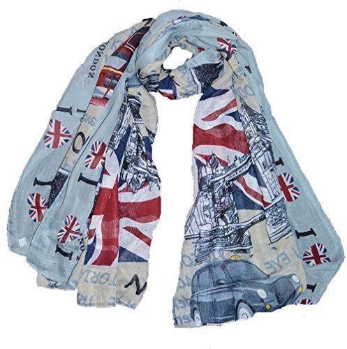 london Großbritannien Union Jack Fahne Großen Maxi-schal Liebe london Grau