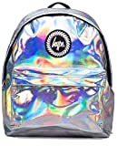 Hype Backpack Bags Rucksack - Grey Holographic Design - Ideal School Bags - For Boys and Girls - Grey Holographic