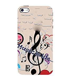 Takkloo music is life music lover,classy cover, trendy cover) Printed Designer Back Case Cover for Apple iPhone SE
