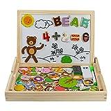 Giocattoli in Legno Puzzle Magnetica Lavagna Giochi Creativi Costruzioni Gioco da Tavolo per Bambini 3 4 5 Anni