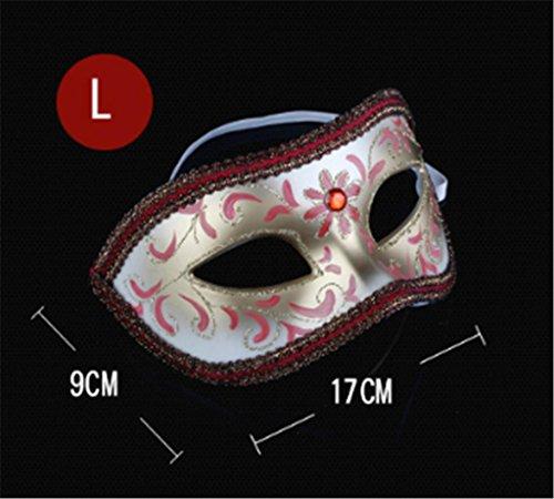 Marcus R Caveggf Maske männlich Halbes Gesicht Erwachsene Abschlussball Gevatter Tod V Wort Jazz Killer Venedig Handbuch Gemalt Spaß mit Maske (Für Wörter Gruselige 7 Halloween)