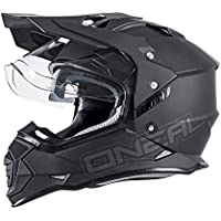 O'Neal Sierra II Helm Flat Schwarz Motorrad MX Motocross Enduro Offroad Quad, 0817-50