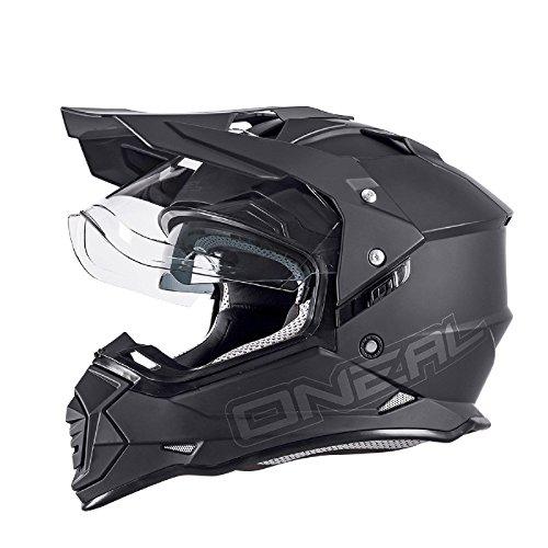 O'Neal Sierra II Helm Flat Schwarz Motorrad MX Motocross Enduro Offroad Quad, 0817-50, Größe XL (61/62 cm)