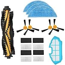 iAmoy Kit de filtro cepillo lateral Reemplazo,4*Filtro + 4*Cepillo laterale