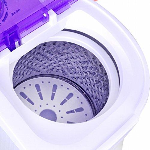 GCCI Mini-waschmaschine Doppel-barrel Kleine Zweireihige Baby-baby mit Einer Trockenen Dehydratation,Lila