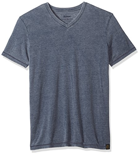 Lucky Brand Herren Venice Burnout V-Neck Tee T-Shirt, American Navy, XX-Large -