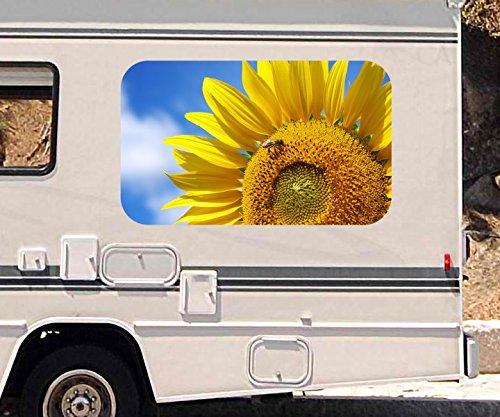 3d-autoaufkleber-blume-sonnenblume-gelb-himmel-biene-blumen-wohnmobil-auto-fenster-motorhaube-sticke