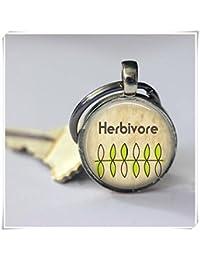 Herbivore Keychain Vegans Vegetarians Key Chain
