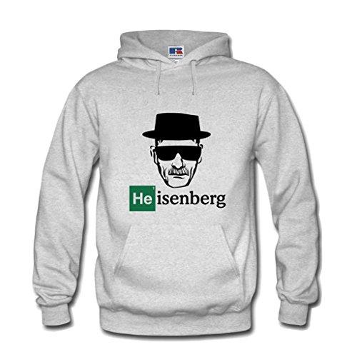 Kapuzenpulli Breaking Hoodie Heisenberg Mr. White Bad Los Pollos Hermanos (S, Grau)