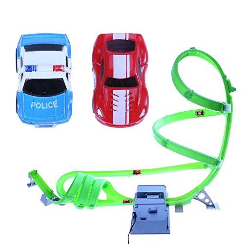 Domybest Miniaturen Auto Set High-Speed Racing Track Beschleuniger Kinder Autos Modell Spielzeug