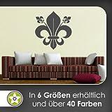 Kiwistar französische Lilie Wandtattoo in 6 Größen - Wandaufkleber Wall Sticker