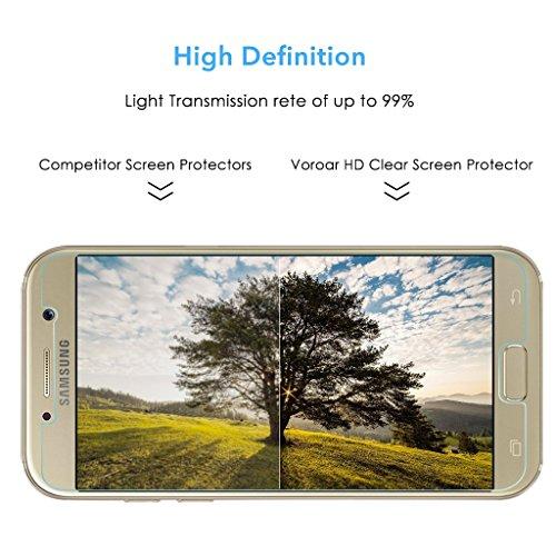 3 Stück Samsung Galaxy A5 Panzerglas, Voroar 9H Härte Schutzfolie Displayschutz / Ultra-klar Displayschutzfolie / Glas Folie gegen Öl und Fingerabdruck Panzerglasfolie - 7