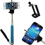 Kingtop - Selfie stick extensible con adaptador trípode, Bluetooth, color azul