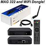 MAG 322 Original Infomir Linux IPTV Set Top Box Multimedia Player Internet TV