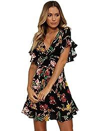 Amazon.it  abito fiori estivo  Abbigliamento 2b6c472e1d4