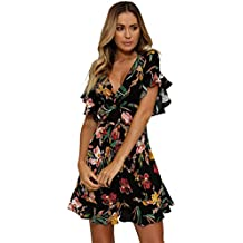 813366fbdc22 Amazon.it  Vestito corto fiori