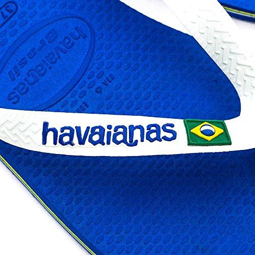 Havaianas Brasil Logo Sandales, unisexe -adultes BLEU MARINE