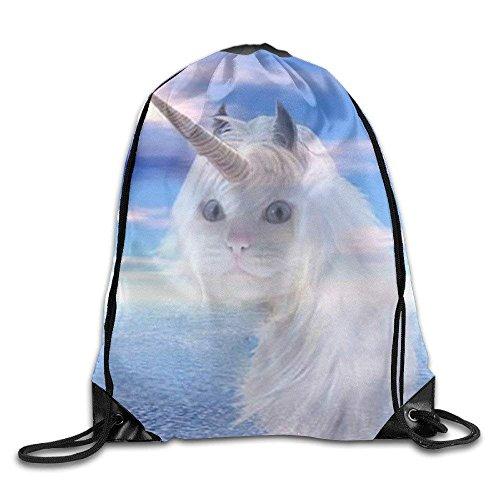 Lovely Unicorn Lightweight Drawstring Bag Sport Gym Backpack Gym Bag for Men and Women