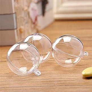 BONNIO 4 Piezas de plástico Transparente Adorno de Bola rellenable Esfera esférica Bola Decoraciones navideñas